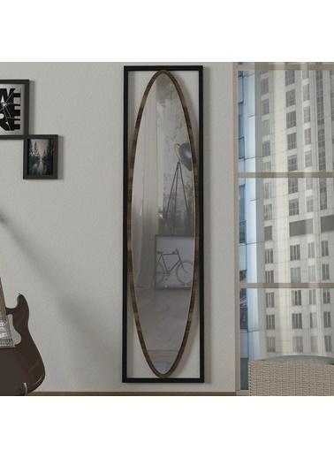 Dekorister Exclusive Luppi Dekoratif Metal Çerçeve Boy Aynası Kahve